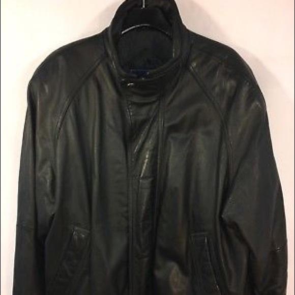 84e4553a6 Leather Bomber Heavy Aviator Jacket Mens Black L